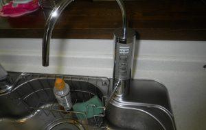 浄水器水栓取替
