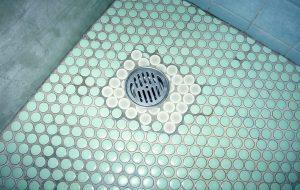 浴室排水口取替え