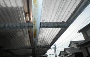 外構工事 カーポート屋根取替