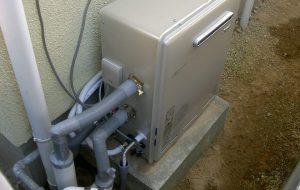 都市ガス給湯器取替え
