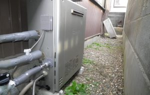 都市ガス給湯器取替