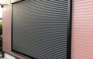 シャッター付きサッシ窓改修工事