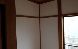和室の壁をクロスに変更